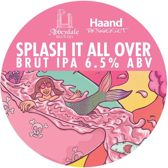Abbeydale Brewery - Splash It All Over Brut IPA Keg Clip