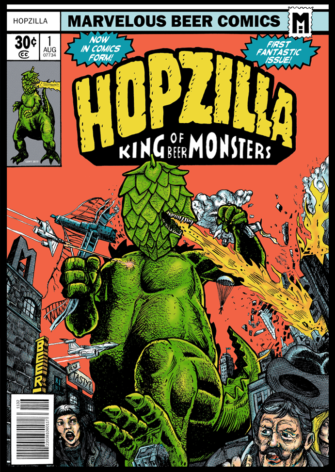 Hopzilla - King of Beer Monsters - Poster Design