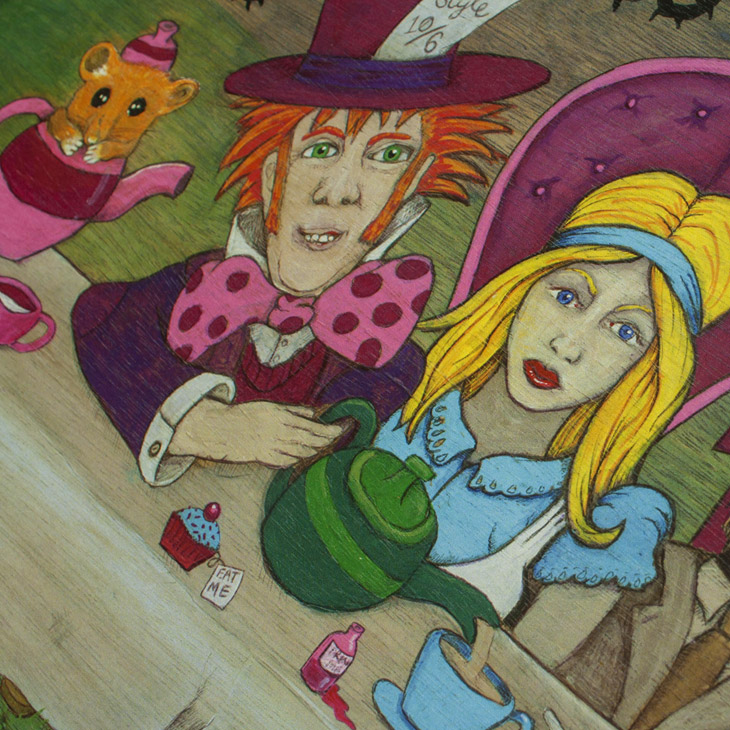 Alice in Wonderland - Mad Hatter's Tea Party Painting