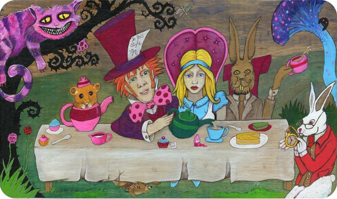 Mad Hatters Tea Party Painting