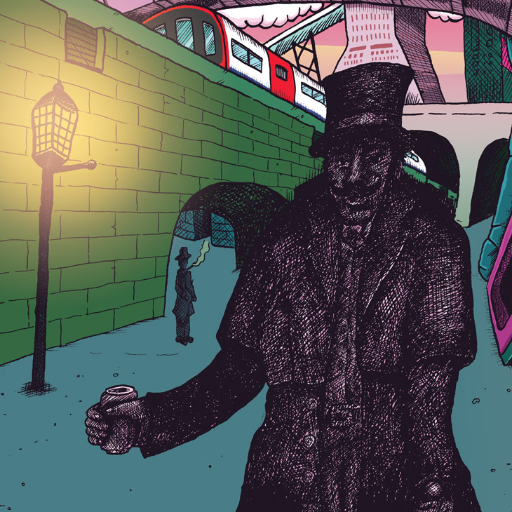 Craft Beer Illustration - Jack the Ripper - Savage Scene Inner City Pale Ale